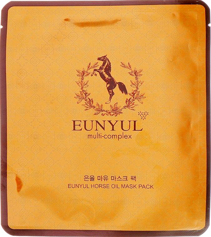 Masque tissu à l'huile de cheval pour visage - Eunyul Horse Oil Mask Pack — Photo N1
