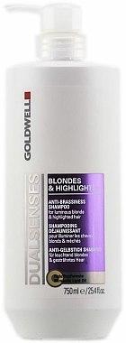 Shampooing déjaunissant - Goldwell Dualsenses Blondes & Highlights Anti-Brassiness Shampoo — Photo N2