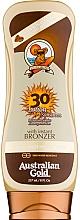 Parfums et Produits cosmétiques Lotion bronzante avec écran solaire SPF 30 - Australian Gold Lotion With Instant Bronzer Spf30