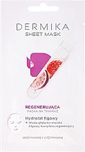 Parfums et Produits cosmétiques Masque tissu à l'hydrolat de figue pour visage - Dermika Sheet Mask