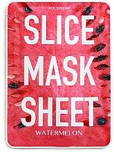Parfums et Produits cosmétiques Masque tissu en tranches à l'extrait de pastèque pour visage - Kocostar Slice Mask Sheet Watermelon