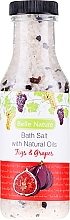 Parfums et Produits cosmétiques Sel de bain à l'huile naturelle de figue et de raisin - Belle Nature Bath Salt