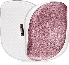 Parfums et Produits cosmétiques Brosse démêlante compacte, rose pailleté - Tangle Teezer Compact Styler Glitter Rose