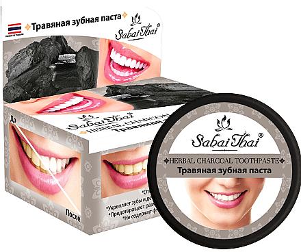 Dentifrice aux herbes et au charbon - Sabai Thai Herbal Charcoal Toothpaste