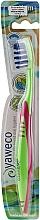 Parfums et Produits cosmétiques Brosse à dents, medium, vert-rose - Yaweco Toothbrush Nylon Medium
