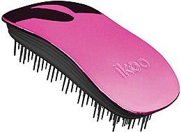 Parfums et Produits cosmétiques Brosse à cheveux compacte, rose - Ikoo Home Cherry Metallic Brush
