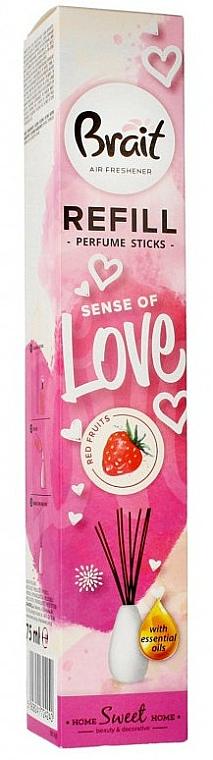 Recharge pour bâtonnets parfumés, Fruits rouges - Brait Home Sweet Home Sense Of Love Refill