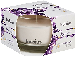 Parfums et Produits cosmétiques Bougie parfumée en verre, Lavande et Camomille, 63/90 mm - Bolsius True Moods Candle