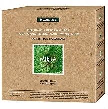 Parfums et Produits cosmétiques Coffret soins cheveux détoxifiant à la menthe aquatique - Klorane Aquatic Mint (shampooing 200ml + après-shampooing 150ml)