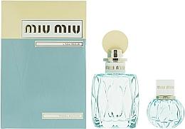 Parfums et Produits cosmétiques Miu Miu L'Eau Bleue - Coffret (eau de parfum/100ml + eau de parfum/20ml)