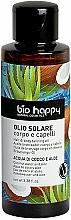 Parfums et Produits cosmétiques Huile de bronzange à l'eau de coco pour corps et cheveux - Bio Happy Hair & Body Tanning Oil Coconut Water And Aloe
