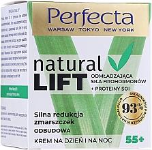 Crème à l'huile de soja et beurre de karité pour visage - Perfecta Natural Lift Anti-wrinkle Revitalizing Cream — Photo N1