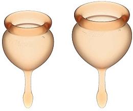 Parfums et Produits cosmétiques Set de coupes menstruelles, orange - Satisfyer Feel Good Menstrual Cup Orange