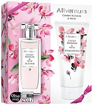 Parfums et Produits cosmétiques Allverne Cherry Blossom & Musk - Set Fleur de cerisier et Musc (eau de parfum/50ml + lotion corporelle parfumée/200ml)
