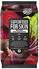 Parfums et Produits cosmétiques Lingettes nettoyantes à l'extrait de betterave pour visage - Superfood For Skin Brightening Facial Cleansing Wipes Beet