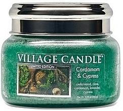 Parfums et Produits cosmétiques Bougie parfumée en jarre Cardamome et Cyprès - Village Candle Cardamom & Cypress