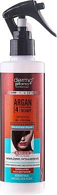 Spray à la kératine pour cheveux - Dermo Pharma Argan Professional 4 Therapy Moisturizing & Smoothing Keratin Hair Repair