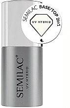 Parfums et Produits cosmétiques Base et top coat pour vernis semi-permanent - Semilac Base/Top 2in1