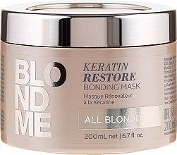 Parfums et Produits cosmétiques Masque rénovateur à la kératine pour cheveux blonds - Schwarzkopf Professional Blondme Keratin Restore Bonding Mask