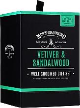 Parfums et Produits cosmétiques Scottish Fine Soaps Men's Grooming Vetiver & Sandalwood - Set (eau de toilette/50ml + shampooing corps et cheveux/75ml + baume après-rasage/75ml)