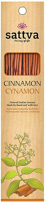 Bâtons d'encens, Cannelle - Sattva Cinnamon