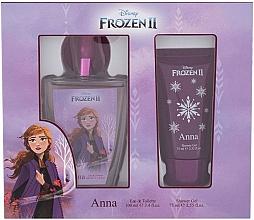 Parfums et Produits cosmétiques Disney Frozen II Anna - Set (eau de toilette/100ml + gel douche/75ml)