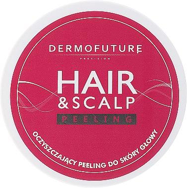 Gommage aux graines de jojoba et noyaux d'abricot pour cuir chevelu et cheveux - DermoFuture Hair&Scalp Peeling