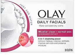 Parfums et Produits cosmétiques Lingettes sèches nettoyantes activées à l'eau - Olay Cleanse Daily Facials Eater Activated Dry Cloths