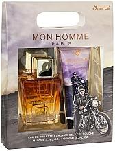 Parfums et Produits cosmétiques Omerta Paris Mon Homme - Set (eau de toilette/100ml + gel douche/100ml)