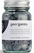 Parfums et Produits cosmétiques Comprimés de bain de bouche au charbon actif - Georganics Mouthwash Tablets Activated Charcoal