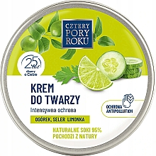Parfums et Produits cosmétiques Crème au jus de concombre pour visage - Cztery Pory Roku