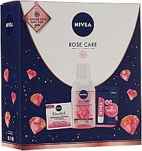 Parfums et Produits cosmétiques Nivea Rose Care - Set(baume à lèvres/5.5ml + crème/50ml + eau micellaire/200)