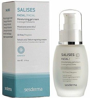 Crème-gel à l'acide salicylique pour visage - SesDerma Laboratories Salises Moisturizing Gel Cream — Photo N1