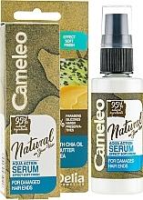 Parfums et Produits cosmétiques Sérum à l'huile de chia pour pointes fourchues sans rinçage - Delia Cameleo Natural On Your Hair Aqua Action Serum