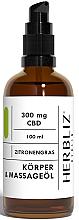 Parfums et Produits cosmétiques Huile de massage à l'huile de citronnelle - Herbliz CBD