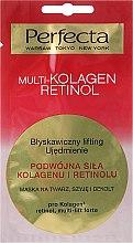 Parfums et Produits cosmétiques Masque au collagène et rétinol pour visage, cou et décolleté - Perfecta Multi-Kolagen Retinol