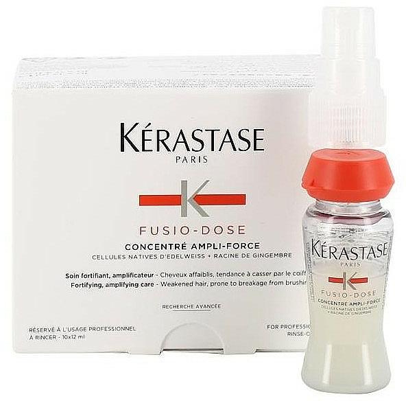 Concentré fortifiante à la racine de gingembre pour cheveux - Kerastase Fusio-Dose Ampli Force Concentrate