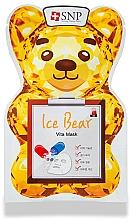 Parfums et Produits cosmétiques Masque tissu à l'extrait de lotus pour visage - SNP Ice Bear Vita Mask