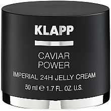 Parfums et Produits cosmétiques Crème-gel à l'extrait de plancton et de caviar hydrolysé pour visage - Klapp Caviar Power Imperial 24H Jelly Cream
