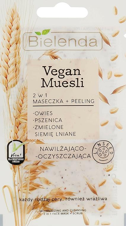 Masque-gommage aux graines de lin pour visage - Bielenda Vegan Muesli