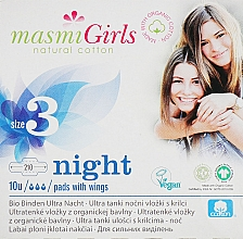 Parfums et Produits cosmétiques Serviettes hygiéniques de nuit avec ailes, ultra minces, vegan - Masmi