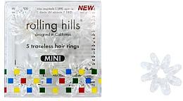 Parfums et Produits cosmétiques Élastiques à cheveux, mini, transparent - Rolling Hills 5 Traceless Hair Rings Mini Transparent