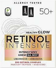Crème de nuit au complexe de rétinol bio - AA Retinol Intensive Healthy Glow 50+ Night Cream — Photo N3