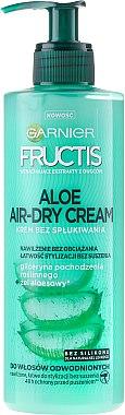 Crème sans rinçage à l'extrait d'aloès et glycérine végétale pour les cheveux - Garnier Fructis Aloe Air-Dry Cream