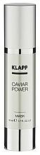 Parfums et Produits cosmétiques Masque au caviar et huile d'amande douce pour visage - Klapp Caviar Power Mask