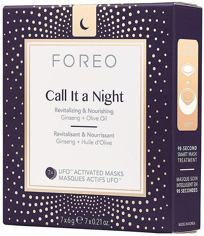Masque de nuit à l'huile d'olive et ginseng pour visage - Foreo Ufo Call It a Night Mask