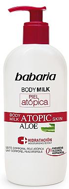Lait corporel à l'extrait d'aloès pour peaux atopiques - Babaria Atopic Aloe Body Milk — Photo N1