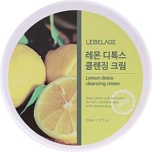 Parfums et Produits cosmétiques Crème nettoyante à l'extrait de citron pour visage - Lebelage Lemon Detox Cleansing Cream