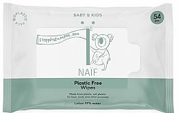 Parfums et Produits cosmétiques Lingettes nettoyantes - Naif Wet Wipes 54St Plastic Free