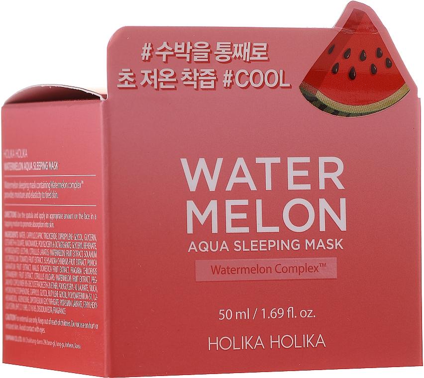 Masque de nuit à l'extrait de pastèque - Holika Holika Watermelon Aqua Sleeping Mask